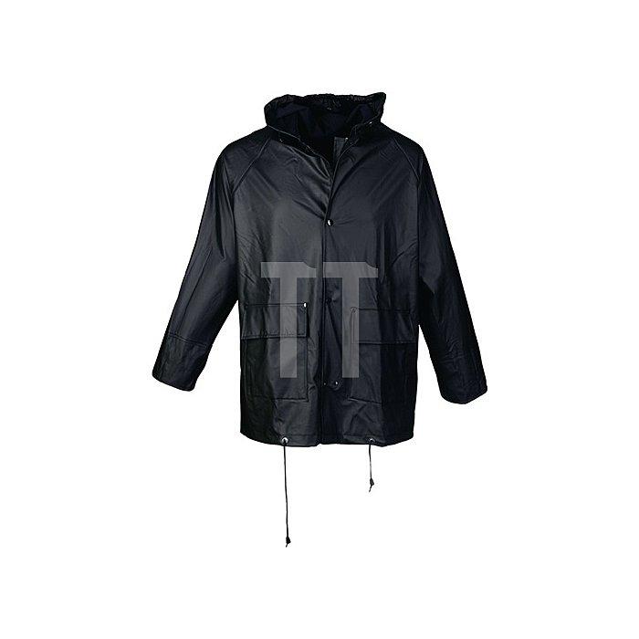 Regenjacke Gr.L schwarz PU-Stretch EN343 Kl.2 reißfest