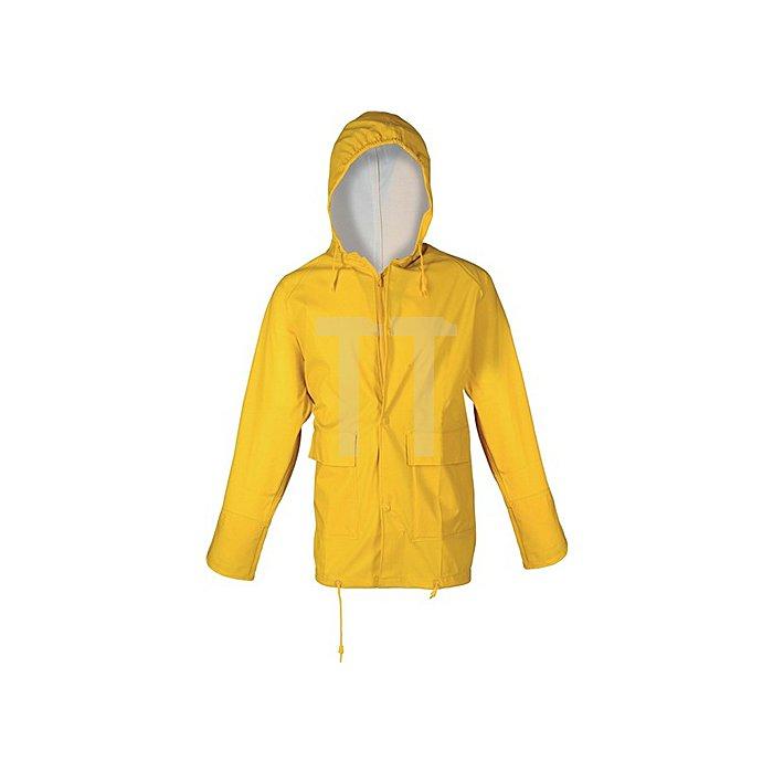 Regenjacke Gr.S gelb PU-Stretch m.Kapuze EN343 Kl.2 reißfest