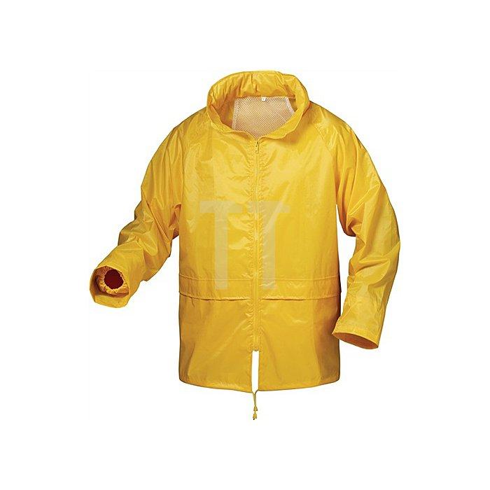 Regenjacke Herning Gr.XL Gelb 100% Nylon