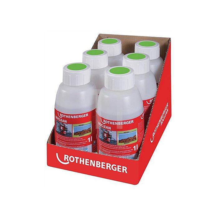 Reinigungschemie ROPULS ROCLEAN f. Flächenheizsyteme 6 Flaschen Rothenberger