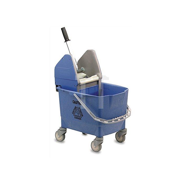 Reinigungswagen mit 1 Eimer 25l u. Presse blau, Kunststoff