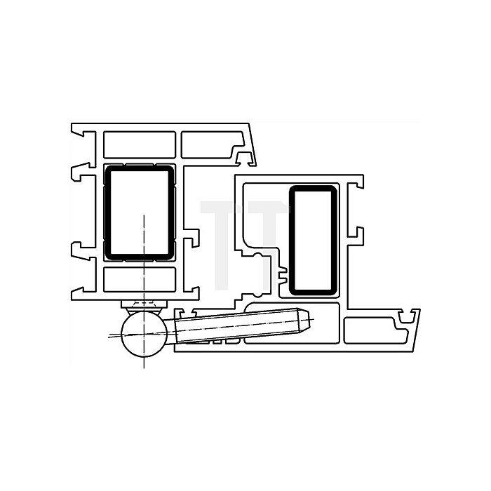 Renovierband K 3172 WF z. Ein-/Aufschrauben Stahl weiss kunststoffbeschich.