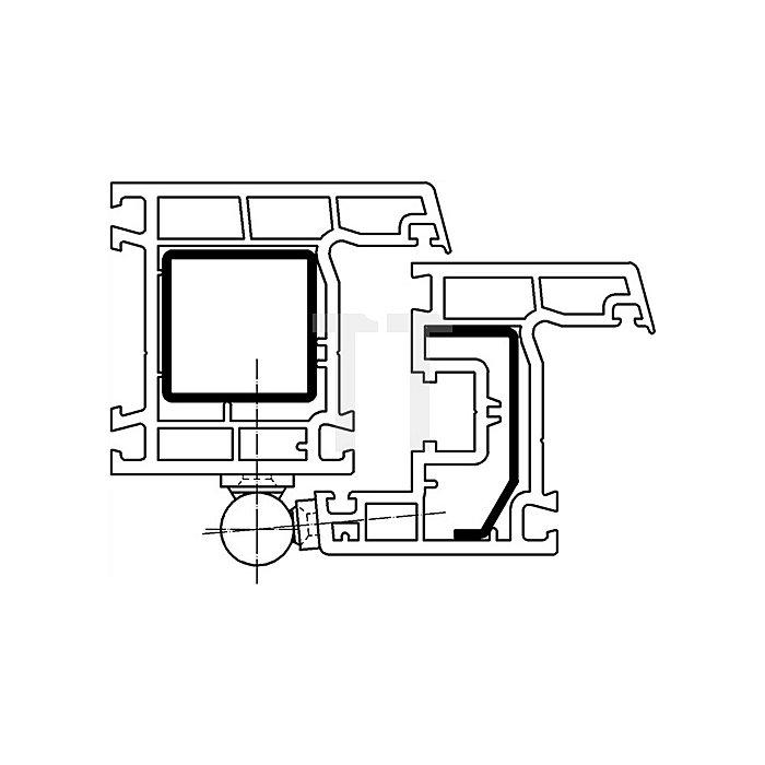 Renovierband K 3174 WF für Kunstsoff-Fenster und Türen vernickelt z.Aufschrauben