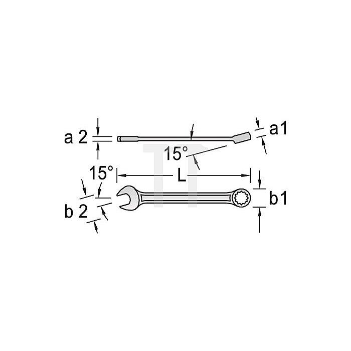 Ring-Maulschlüssel NC UD-Profil 11/16Zoll