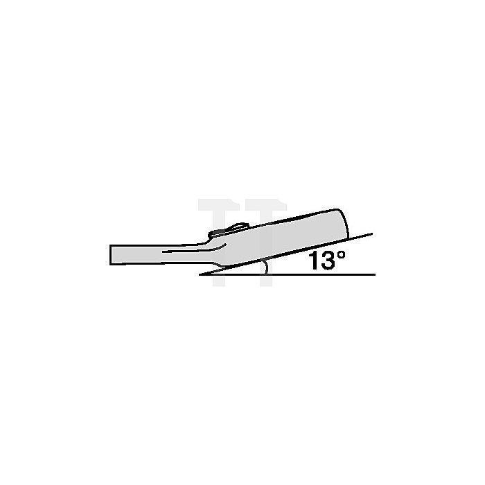 Ring-Ratschenschlüssel 19mm, extra kurz, verstel. Ringseite 13Grad abgew. L 169m
