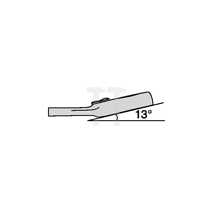 Ring-Ratschenschlüssel 21mm, extra lang, verstel. Ringseite 13Grad abgew. L 353m