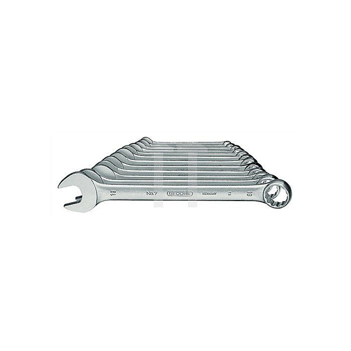 Ringmaulschlüsselsatz SW10mm-32mm UD-Profil 12tlg. Chrom CV. 7-012 DIN3113 FormA