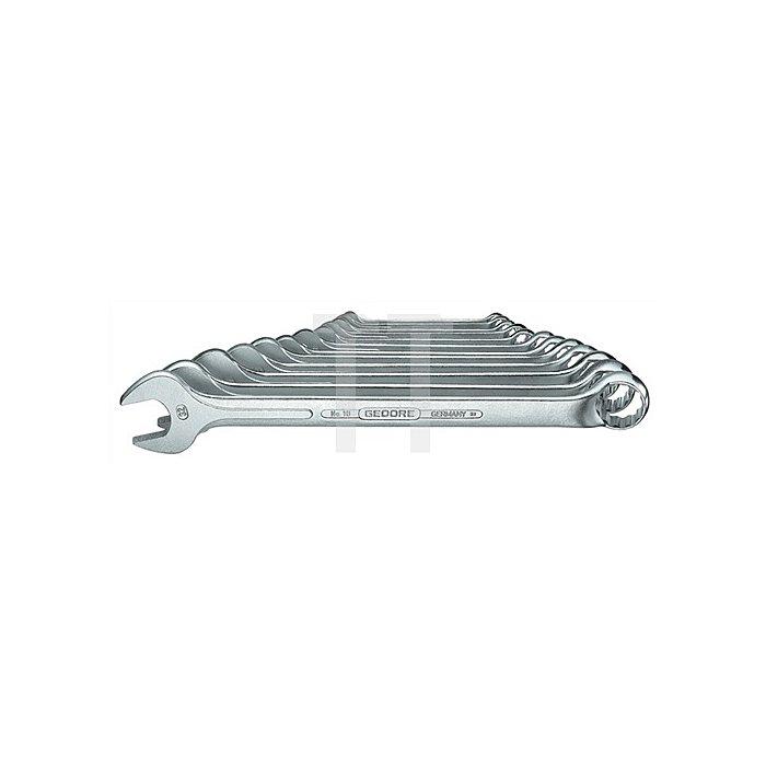 Ringmaulschlüsselsatz SW6mm-22mmm UD-Profil 17tlg. Chrom CV. 1 B-017 DIN3113