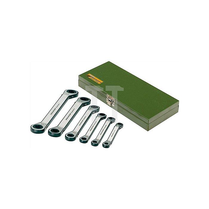 Ringratschenschlüssel Satz 6tlg. PROXXON i.Stahlkassette