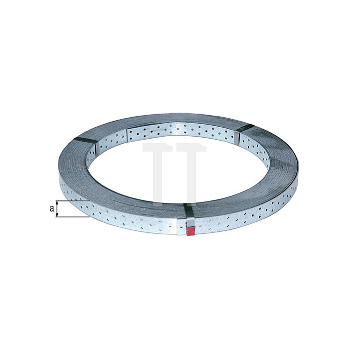 Rispenband, sendzimirverzinkt, BxS/L: 60 x 2mm / 50 m, CE nach DIN EN 14545