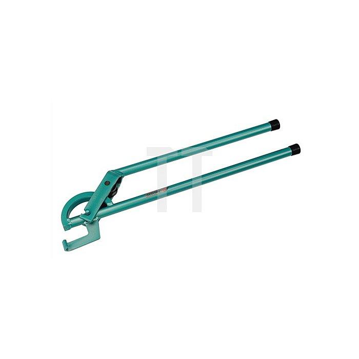 Rohrbiegezange f.Stahl-u.Edelstahlrohre 10mm Rolle blau lackiert r=43mm b.90Grad