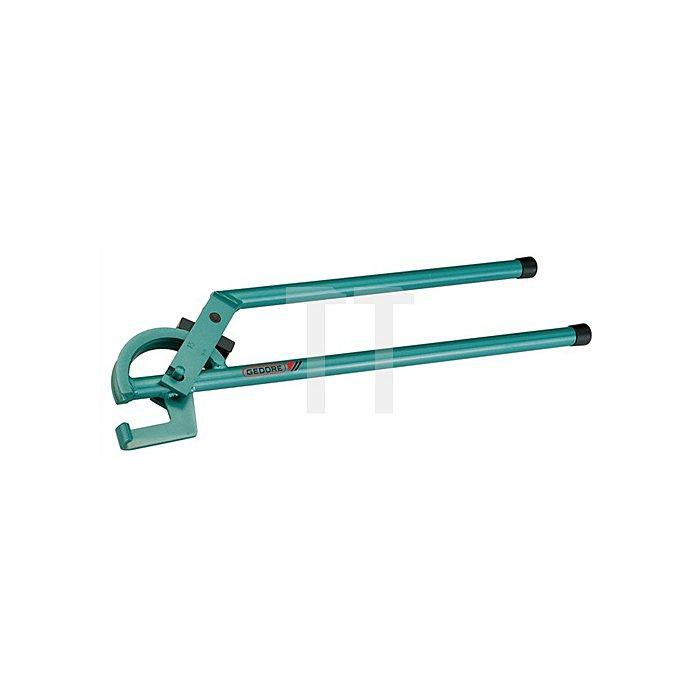 Rohrbiegezange f.Stahlrohre 22mm m.Gleitschiene blau lackiert r=86mm bis 90Grad