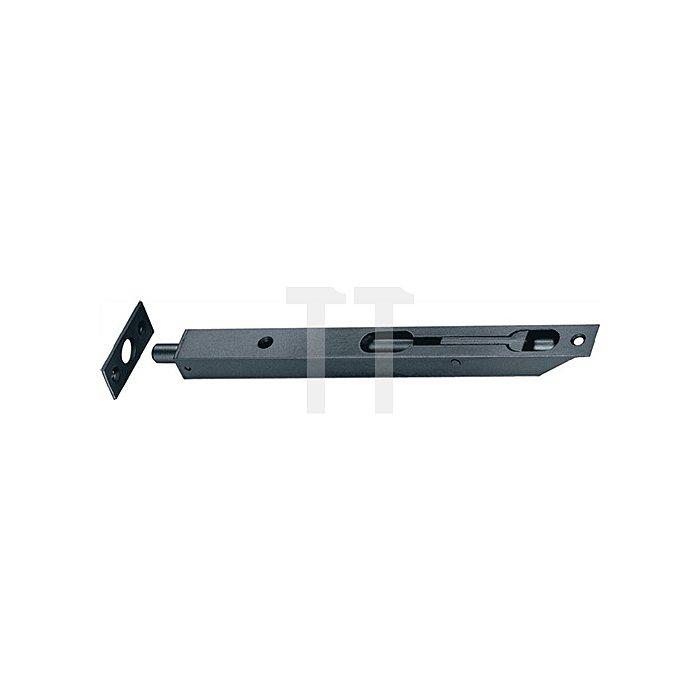 Rohrkantriegel L. 250mm B. 20mm Hub 16mm vernickelt ktg. m. Schließblech