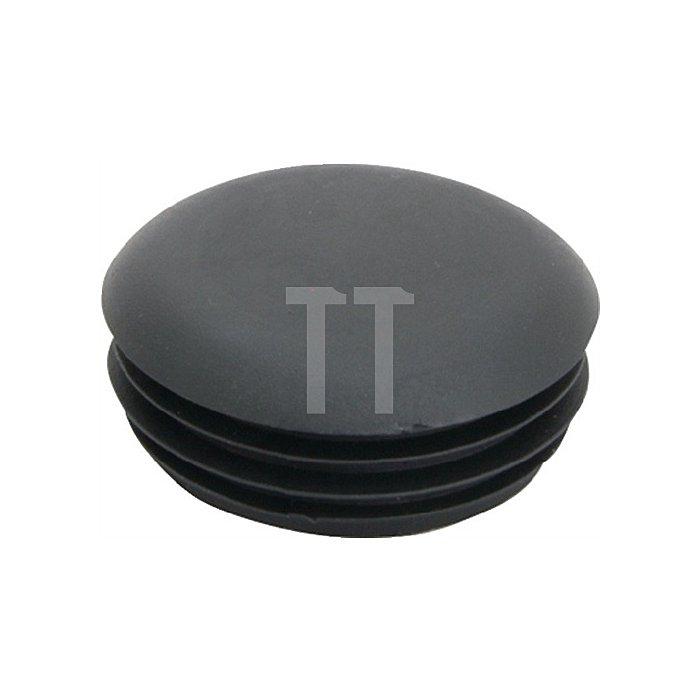 Rohrstopfen für Rundohr für Rohraußen-D.22mm PE schwarz mit Lamellen