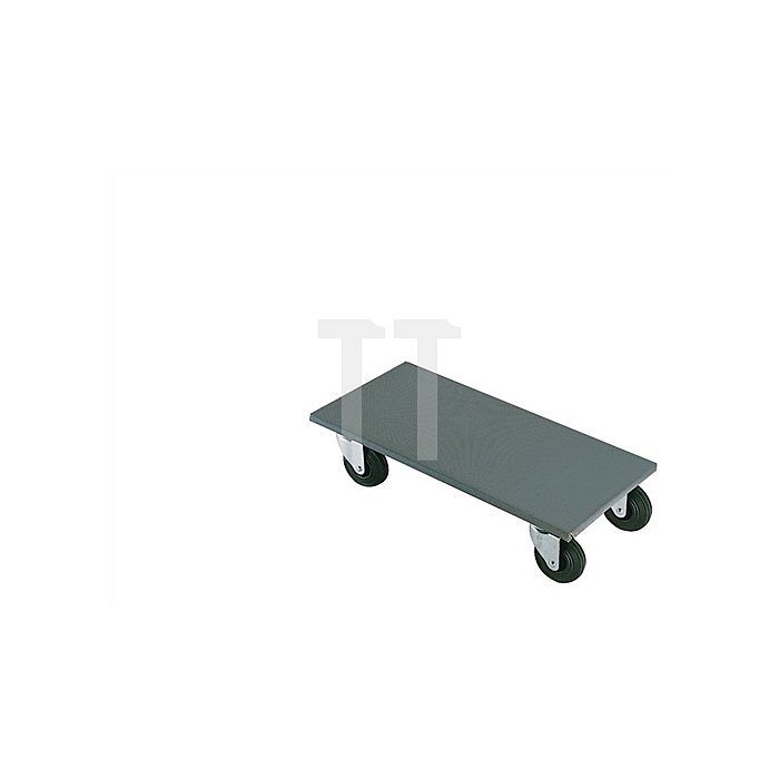 Roller Durchmesser 125mm Tragfähigkeit 500kg Vollgummireifen Platte 500x600mm
