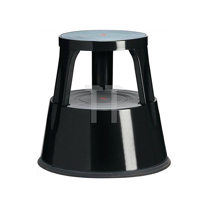 Rollhocker Stahlblech schwarz Trgf.150kg H410xD.433/283mm