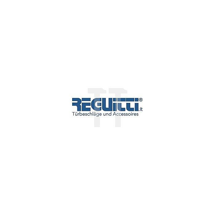 Rosetten-Drückergarnitur Sandra R BAD/WC Vierkant 8mm mattchrom/Porzellan weiss