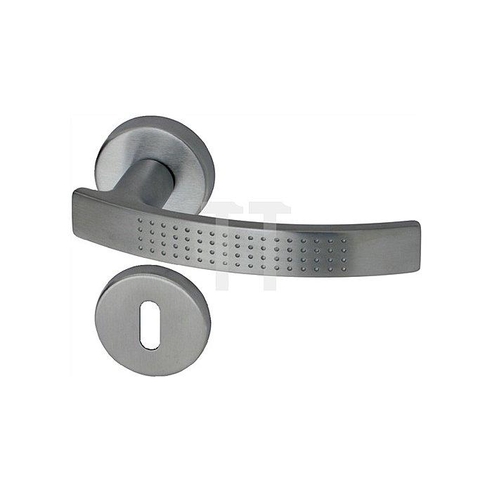 Rosetten-Drückergarnitur Stylus PZ Vierkant 8mm Mattchrom