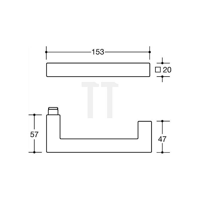 Rosetten-Drückergrt.103XAH/307.20SXAH/308XA PZ VK8mm TS38,1-48mm VA matt