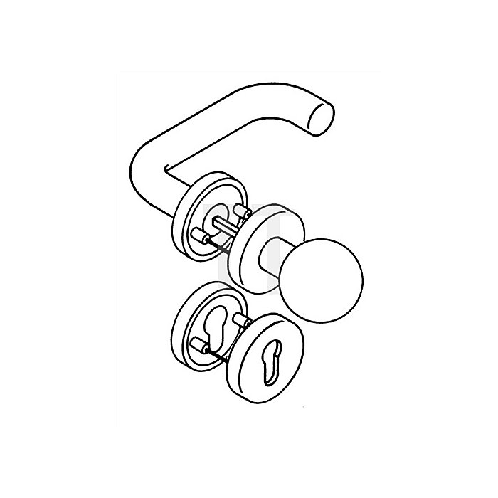 Rosetten-Drückergrt.111R/123.23R/305...R/306.23 PZ TS38,1-48mm rapsgelb Wechsel