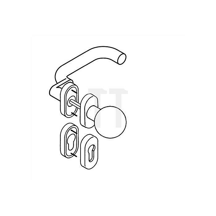 Rosetten-Drückergrt.114XAH/109XA/315/316XAH PZ VK8mm TS38,1-48mm VA matt