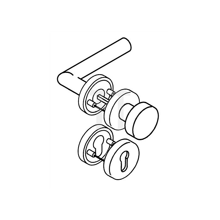 Rosetten-Drückergrt.162.21XAH/107/305.21XAH/306XA PZ TS38,1-48mm VA matt WE