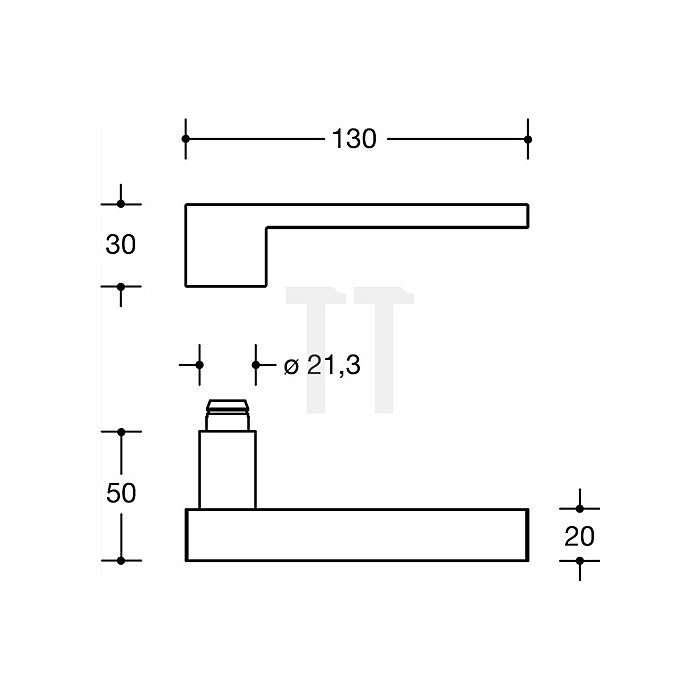 Rosetten-Drückergrt.181XAB/305.21XAB/306.23XA PZ VK8mm TS38,1-48mm VA matt