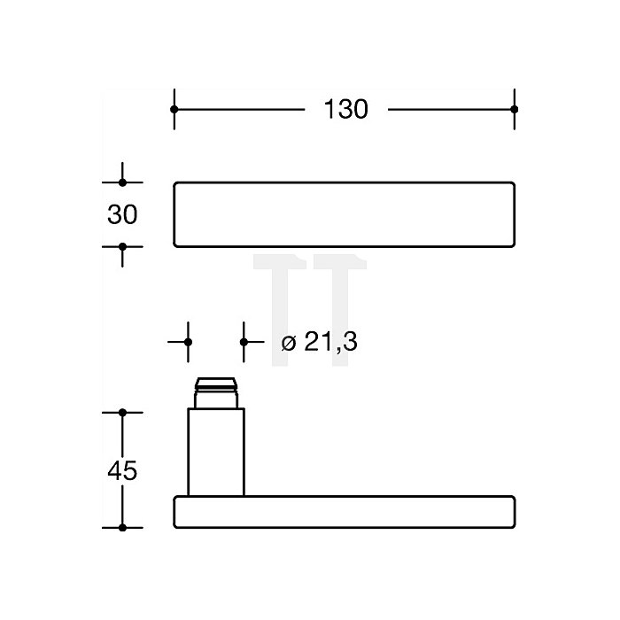 Rosetten-Drückergrt.185XAH/307.21XAH/308.23XA PZ VK8mm TS38,1-48mm VA matt