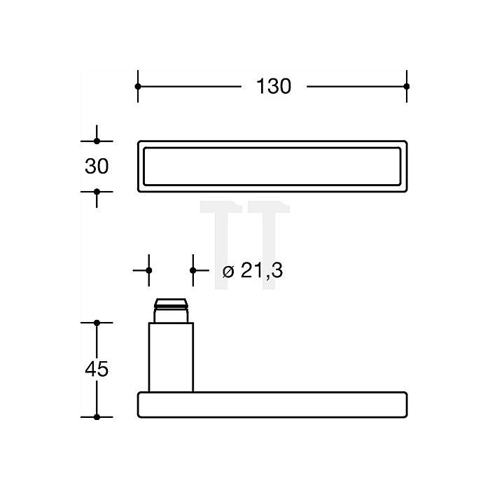 Rosetten-Drückergrt.185XIB/305.21XAB/306.23XA BB VK8 TS38,1-48 Glas weiss VA matt