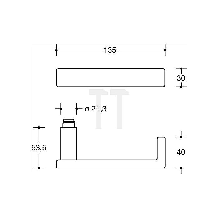 Rosetten-Drückergrt.186XAH/305.21XAH/306.23XA PZ VK8mm TS38,1-48mm VA matt