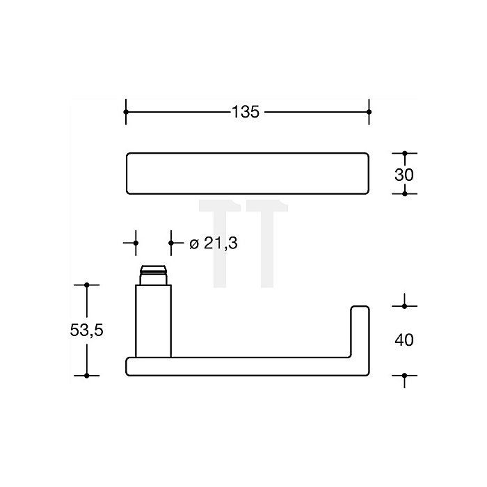 Rosetten-Drückergrt.186XAH/307.21XAH/308.23XA BB VK8mm TS38,1-48mm VA matt