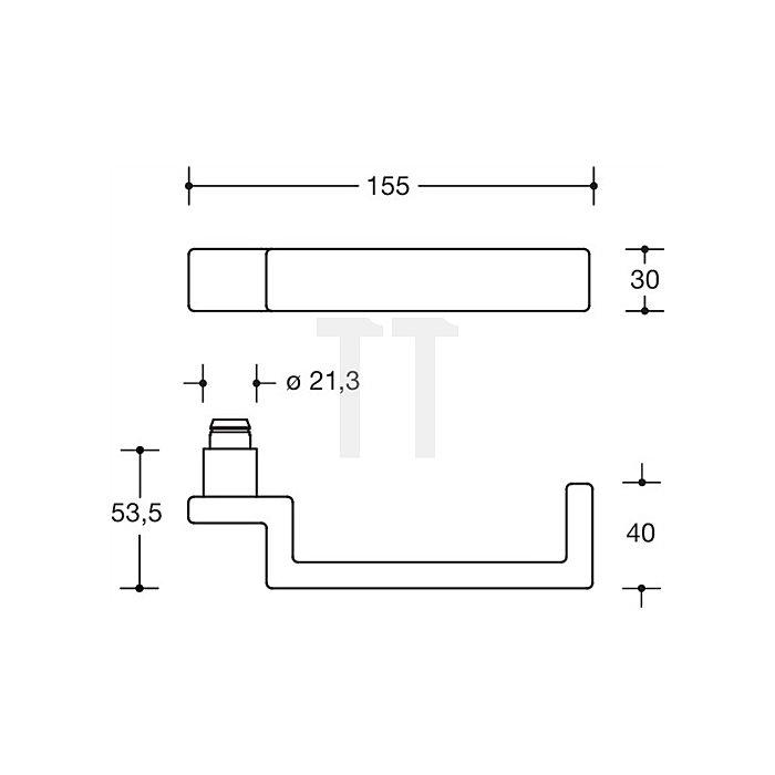 Rosetten-Drückergrt.187XAHLT/317.21XAH VK8mm VA matt-geschliffen f.Rahmentüren