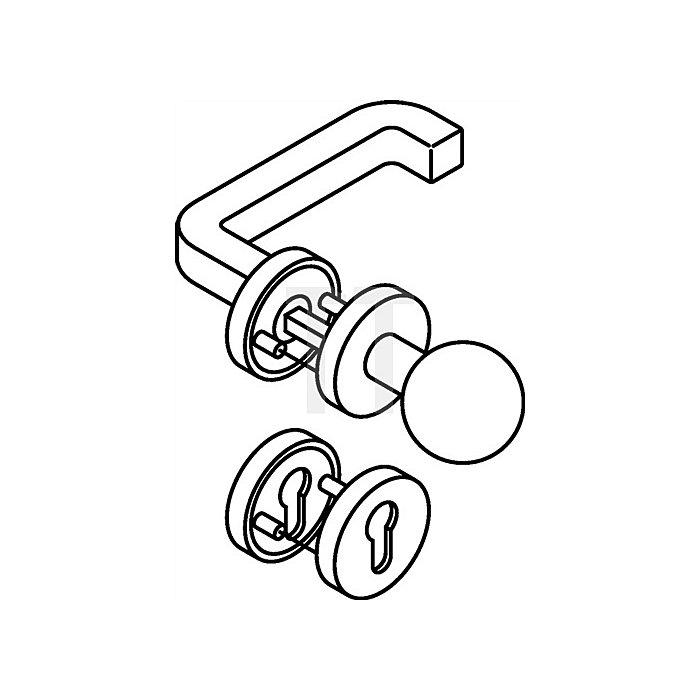 Rosetten-Drückergrt.211/109XA/305.20SXAH/306.23XA PZ TS38,1-48mm VA matt Wechsel