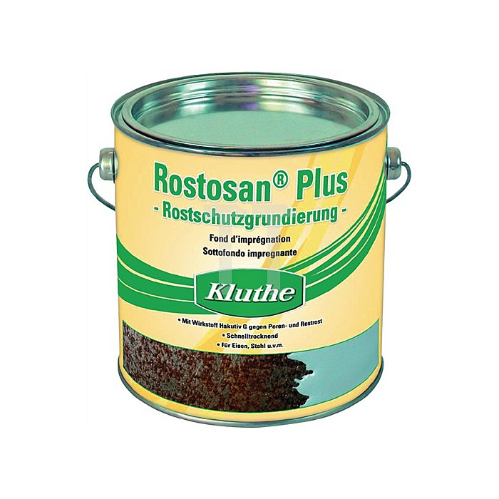 Rostschutz Rostosan grau 2500ml 1l=15m2