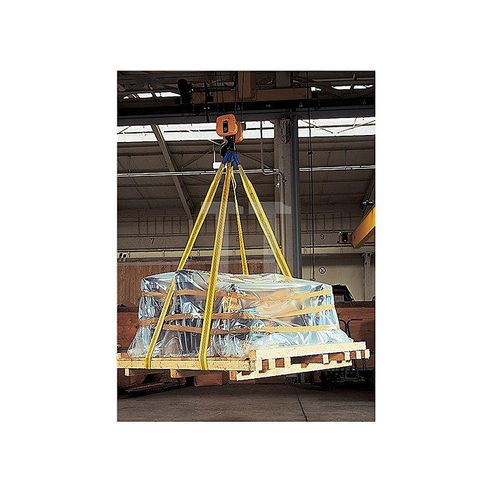 Rundschlinge L.4m/D.8m gestreckt 4t U-Lage 8t m.Doppelmantel