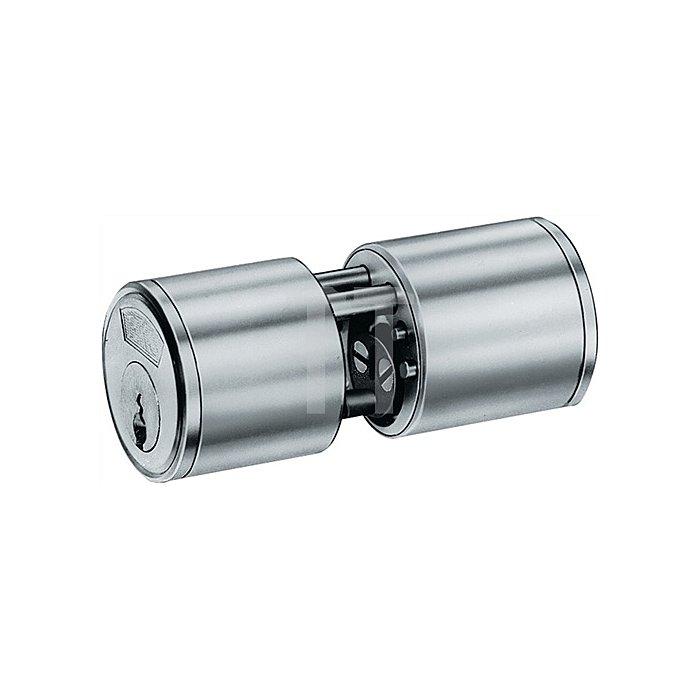 Rundzylinder nach DIN 18252 3107 L.A 29mm L.B 29mm Gesamt 72mm massiv Ms.matt