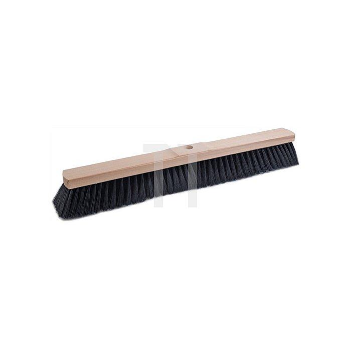 Saalbesen Qualitätsmischung PVC L.600mm 8 Reihen m.Stielloch Sattelholz