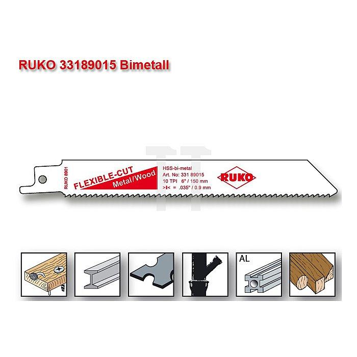 Säbelsägeblätter 8901 HSS-Bimetall