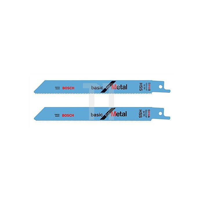 Säbelsägeblatt L.100mm HSS Zahnt.1,8mm f.mittlere Bleche BOSCH gefräst