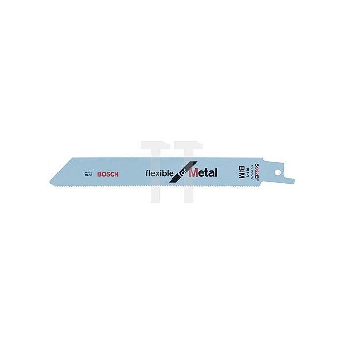 Säbelsägeblatt L.150mm Bi Zahnt.1,4mm f.dünne Bleche BOSCH gefräst