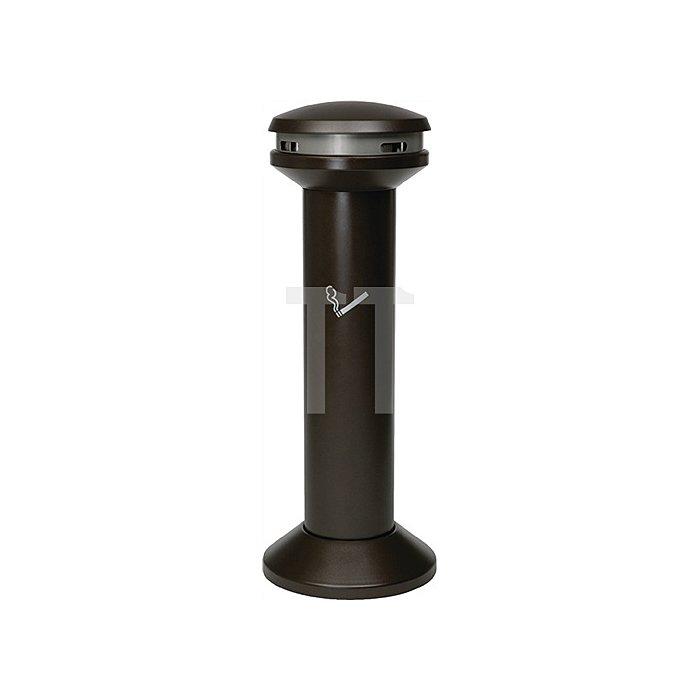 Säulenstandascher Stahlblech H.1054xD.394mm wetterfest