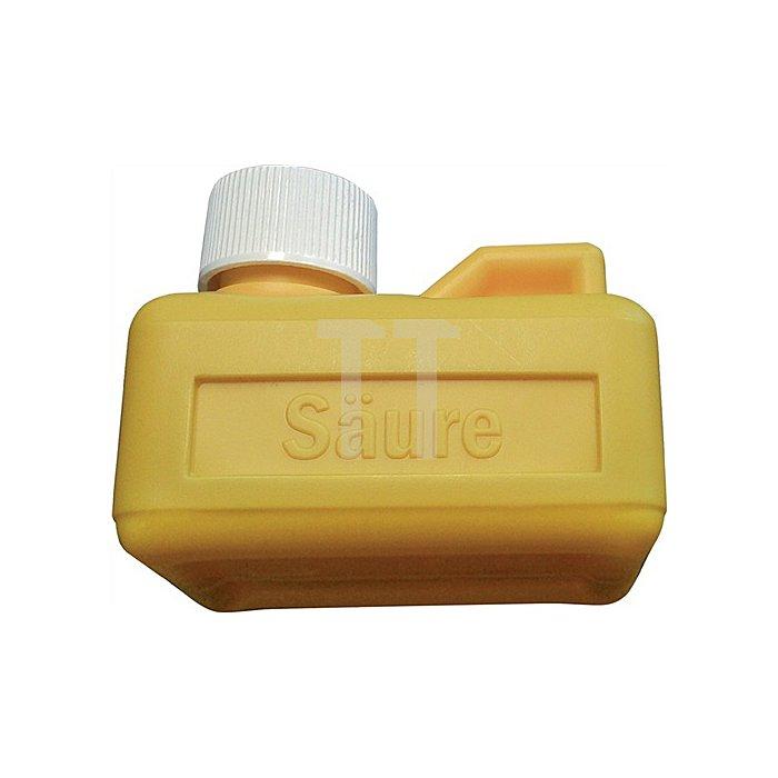 Salzsäurebehälter f. 125 ml Bodengröße 75x55 mm gelb