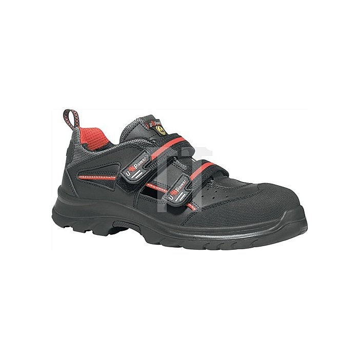 Sandale EN20345 ESD S1P SRC Oak Gr. 46 Glattleder schwarz Klettverschluss