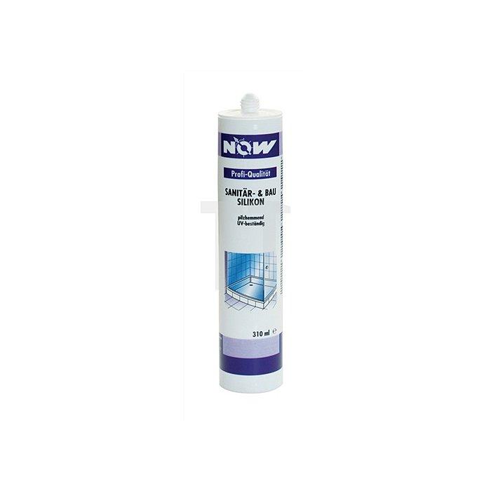 Sanitär-/Bausilikon grau 310ml acetatvernetzt NOW dauerelastisch
