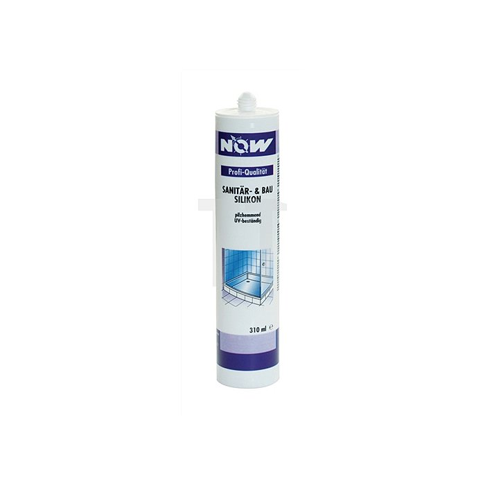 Sanitär-/Bausilikon weiss 310ml acetatvernetzt NOW dauerelastisch