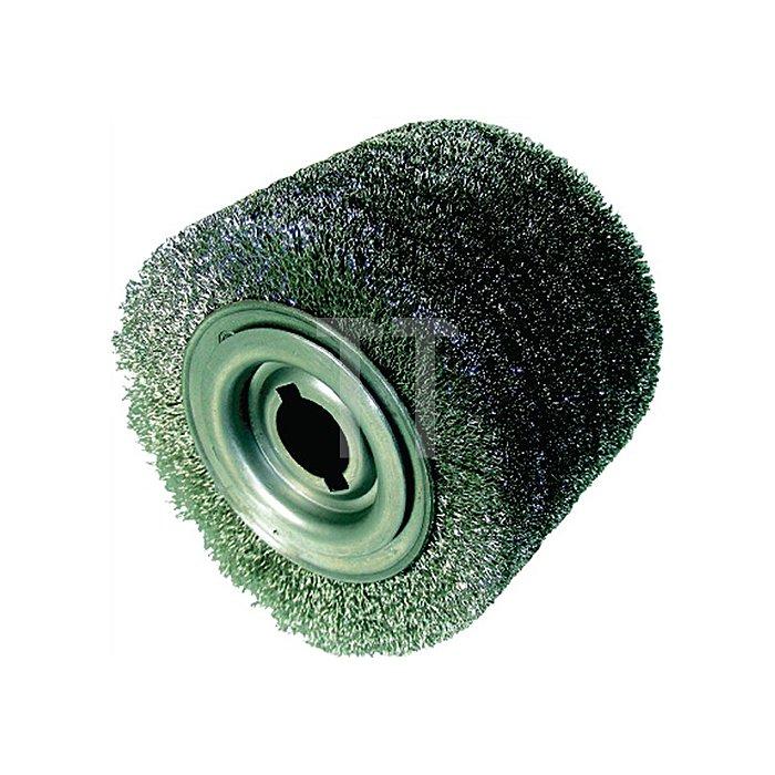 Satinierwalze Schleifborste Korn80 D.100xB.100mm Aufnahme 19mm 1203703912
