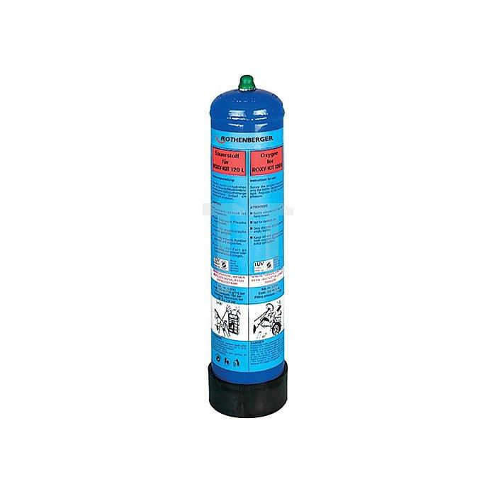 Sauerstoffflasche f. Hartlöt-u.Schweissgerät. Roxy Kit 120 /110bar 1 l