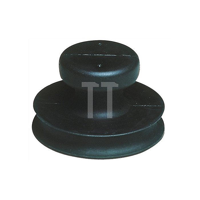 Saugheber b.15kg Kopf-D.80mm Gummi