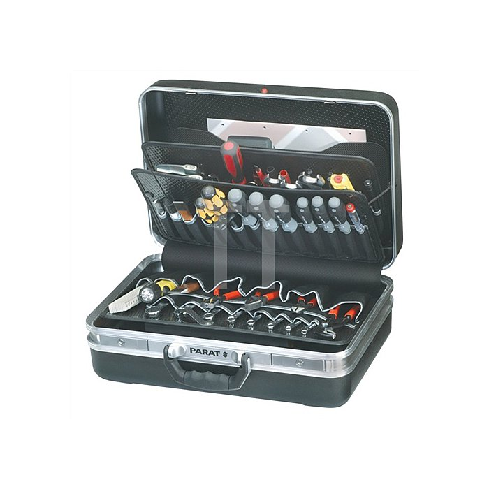 Schalenkoffer X-ABS 460x310x165mm m.Alu.-Rahmen PARAT schwarz