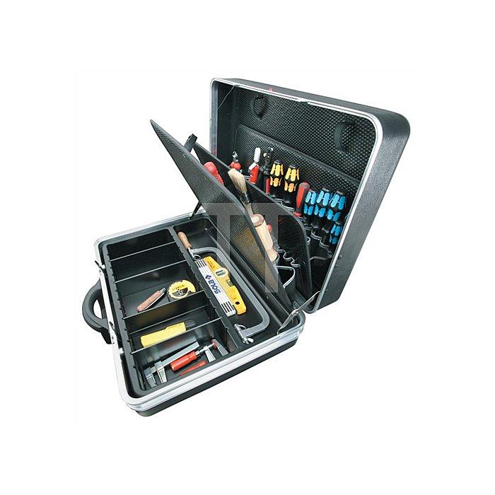 Schalenkoffer X-ABS 575x220x425mm Doppel-Alu.-Rahmen PARAT rollbar schwarz